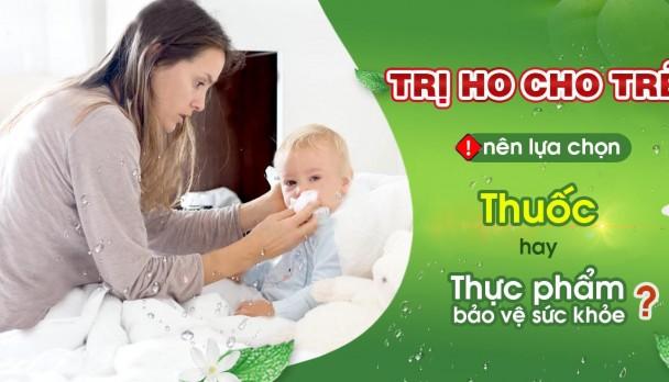 Trị ho cho trẻ bằng thuốc ho Bảo Thanh