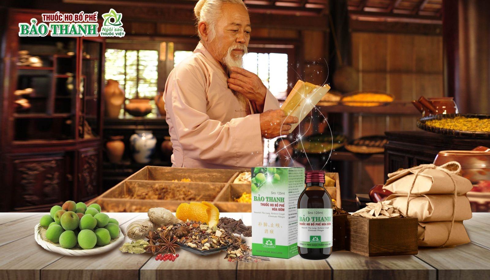Các dược liệu trong thuốc ho Bảo Thanh được phối hợp theo nguyên tắc chặt chẽ của y học cổ truyền