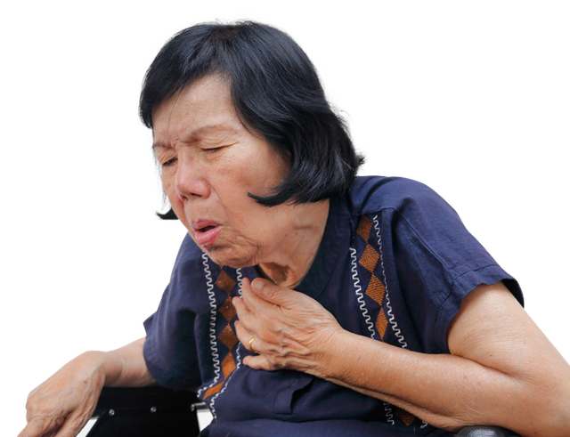 Người cao tuổi là đối tượng dễ bị ngứa cổ họng và ho kéo dài
