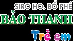 Siro ho, bổ phế Bảo Thanh trẻ em