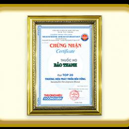 Bảo Thanh – Top 20 nhãn hiệu hàng đầu Việt Nam – 2017