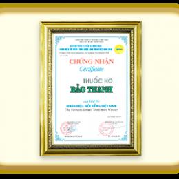 Bảo Thanh – Top 50 nhãn hiệu hàng đầu Việt Nam – 2015