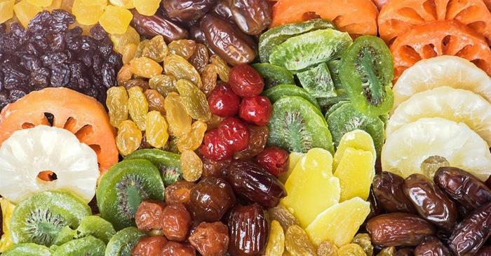 Các loại hạt, rau củ sấy… khô cứng