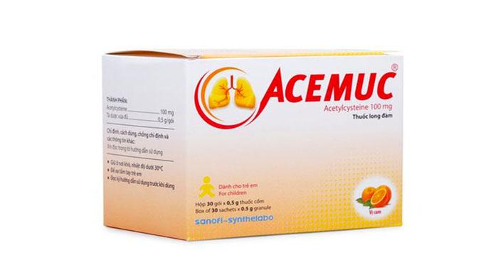 Thuốc tan đờm Acemuc