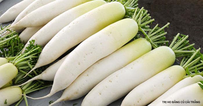 trị ho bằng củ cải trắng