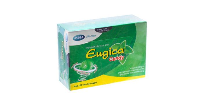 Kẹo giảm đau họng Eugica