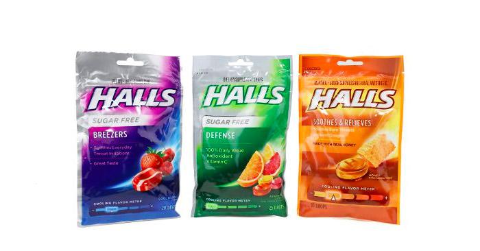 Kẹo ngậm trị đau họng Halls